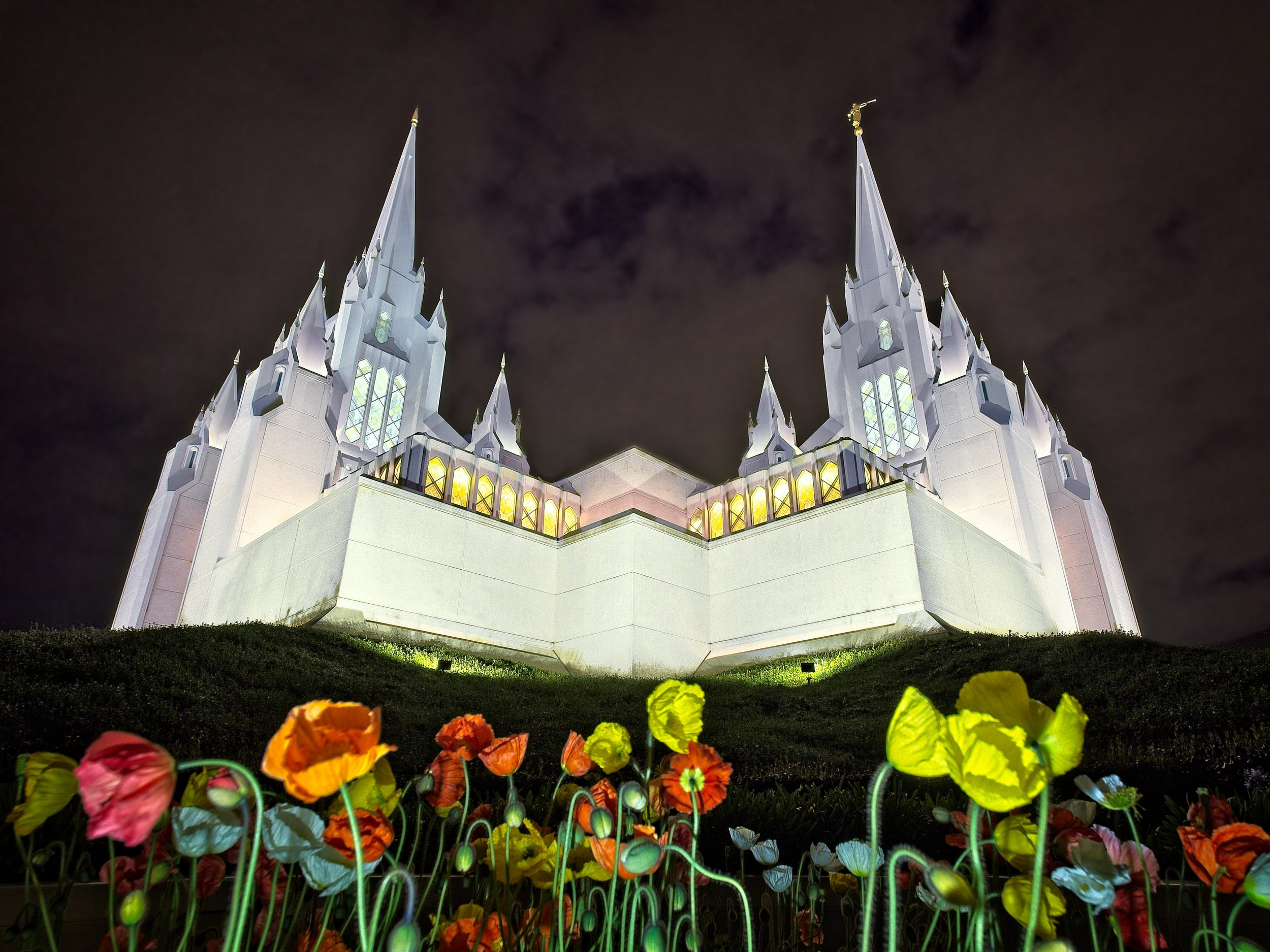 Sure felt like a pair of eyes were watching over me at the San Diego California Temple!