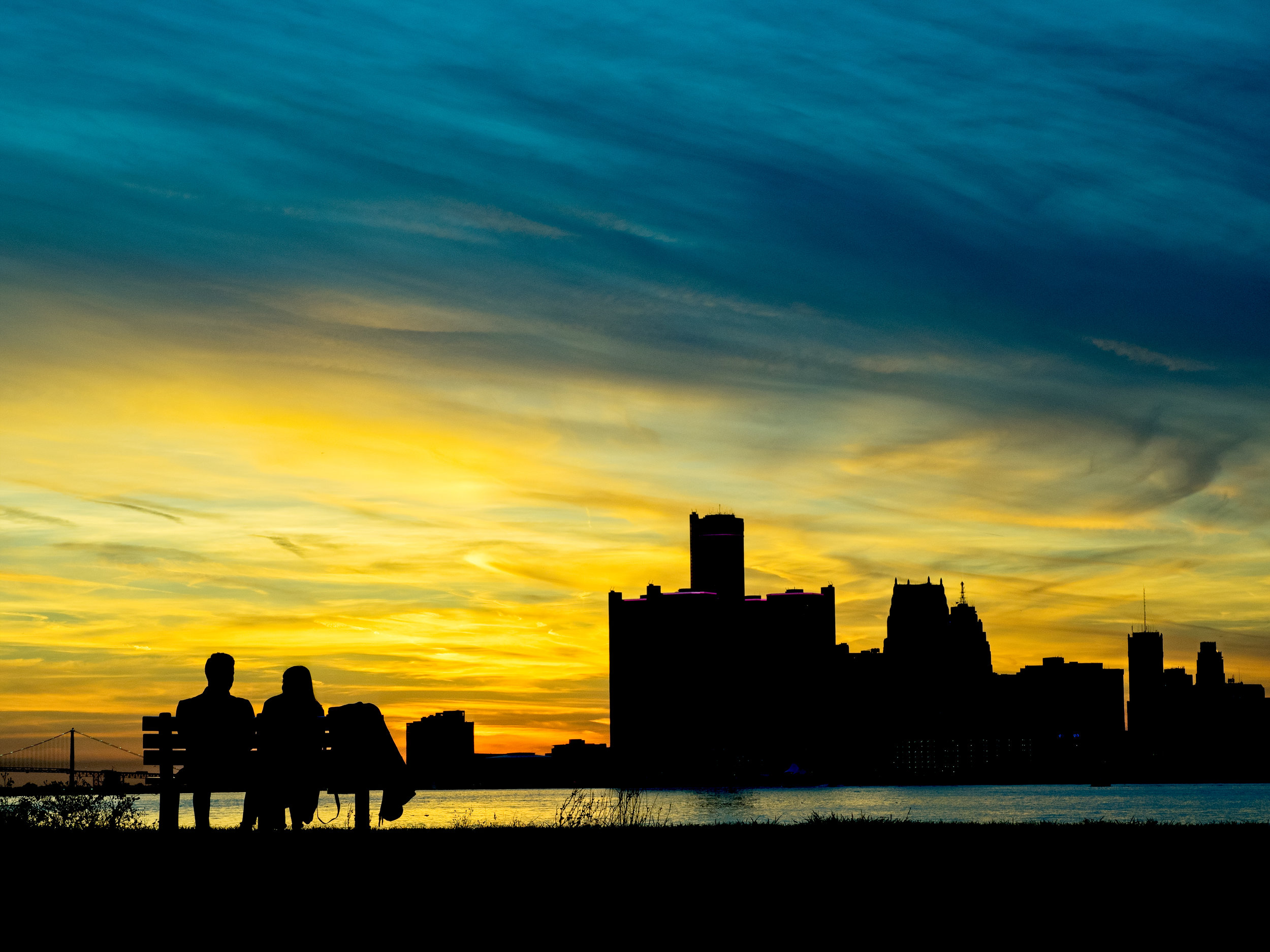 One of the images in the article, this one of the Detroit skyline