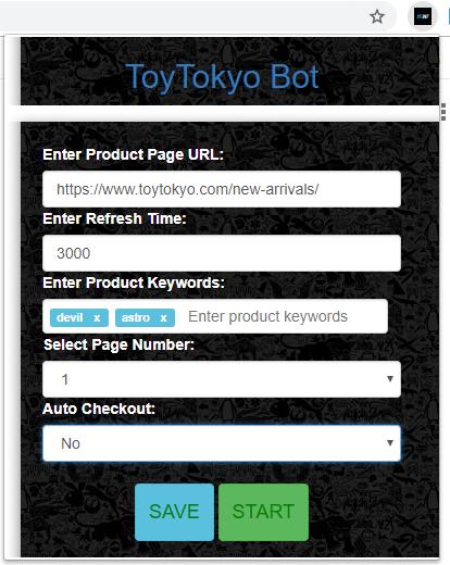 Toy Tokyo Bot Demo Setup Screenshot 1