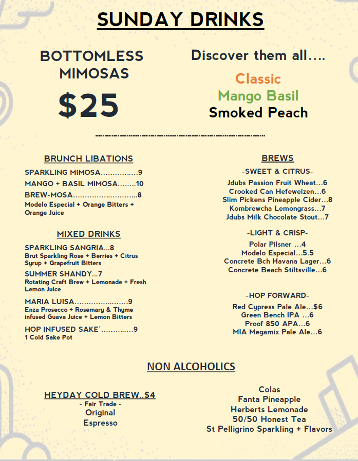 BRUNCH MENU UPDATED 9/1