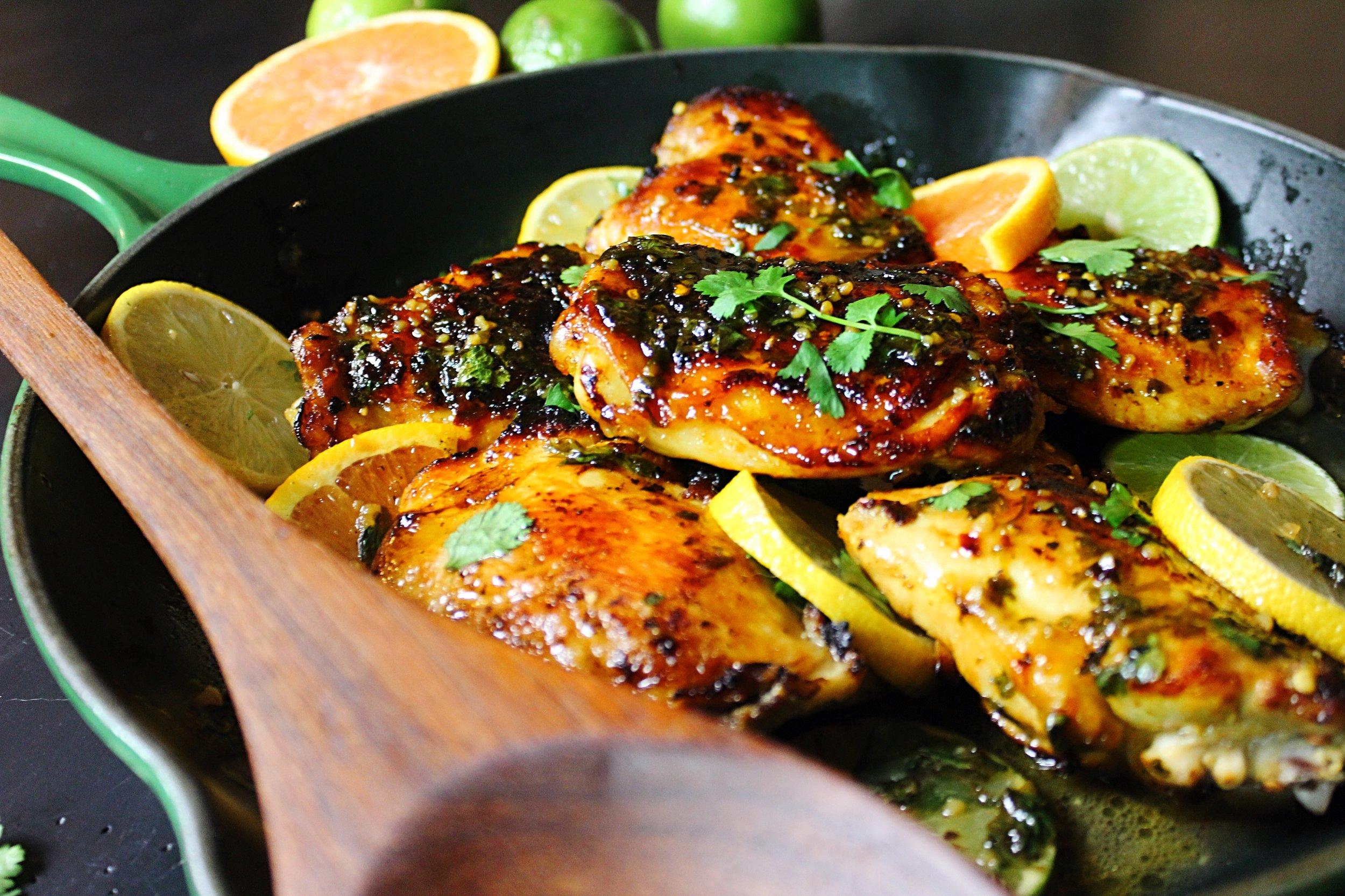 Beautiful & delicious citrus glazed chicken