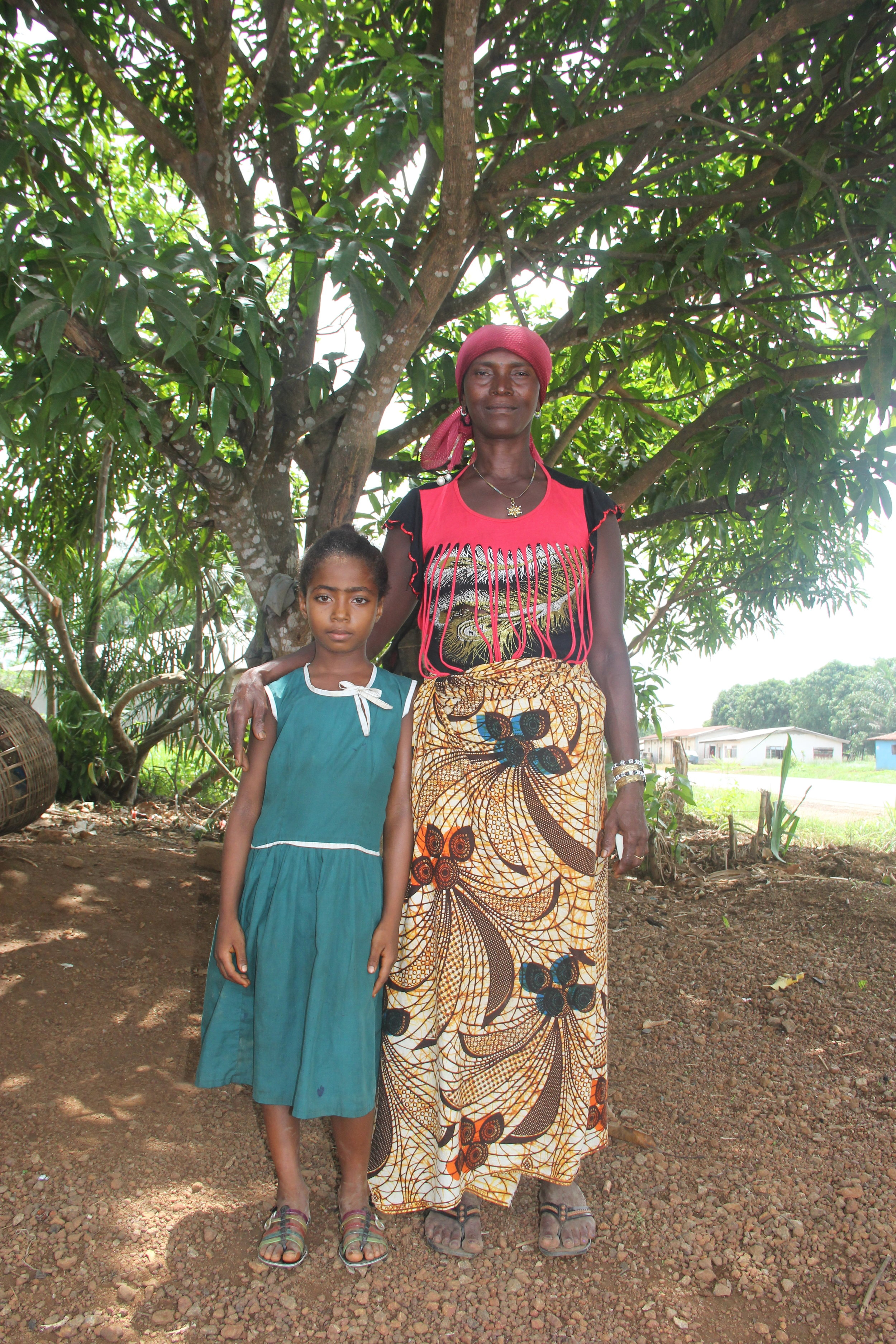 Beyonce and her grandmother in Lal Banka village in Port Loko District, Sierra Leone