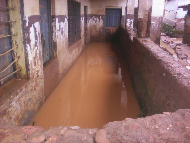 Kroo Bay Community Primary School in Central Freetown Damaged by Flood Waters