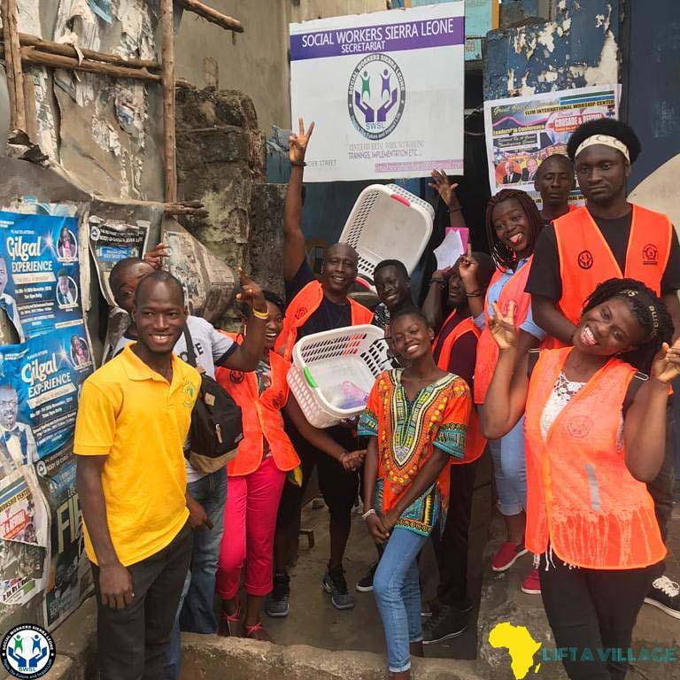 December 2018: Volunteers of the Sunday Feeding in Partnership with Social Workers-Sierra Leone.