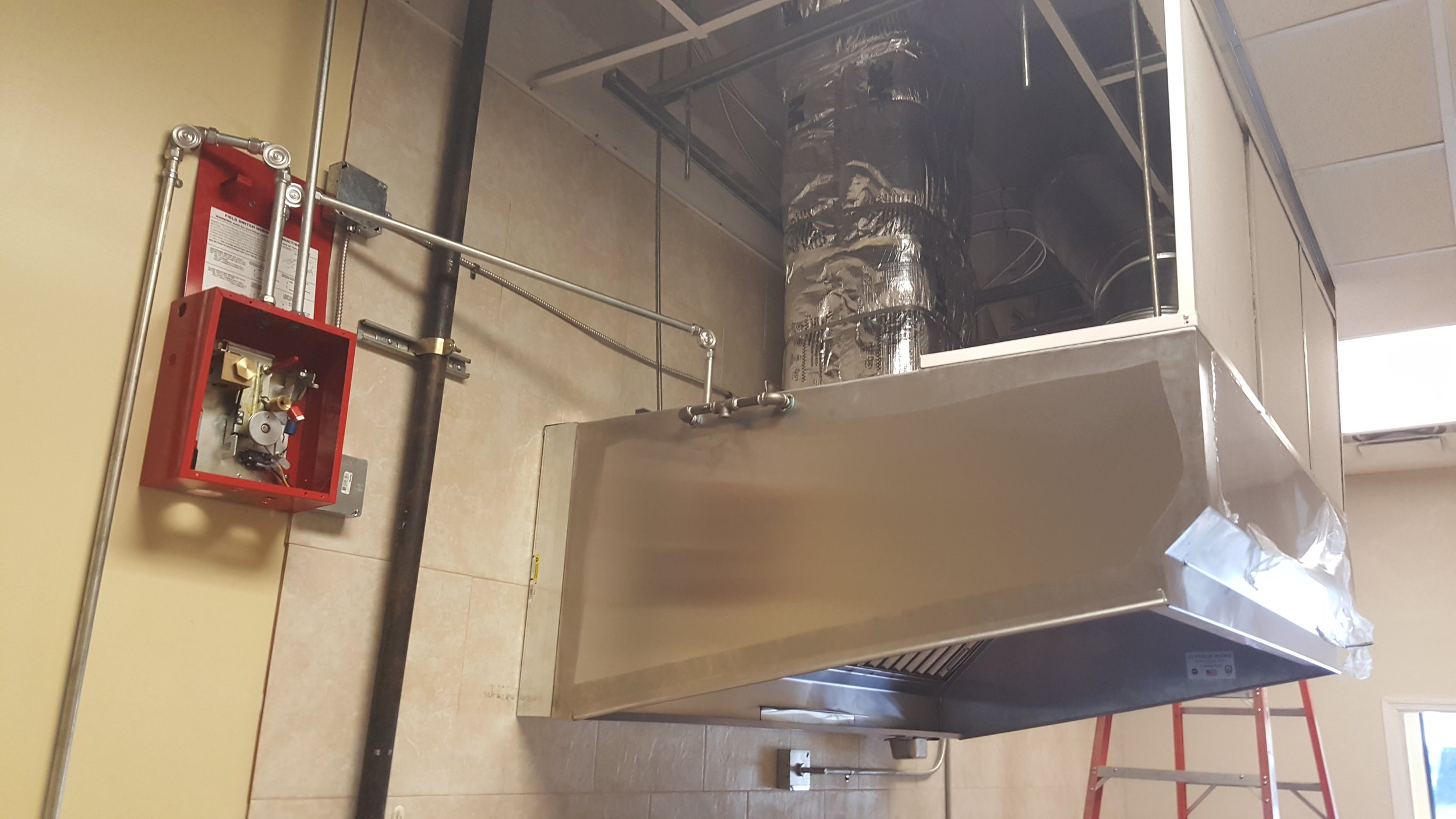 Liquid Tight Welded Ducts  and the  Fire Protection System  for the Kitchen Hood