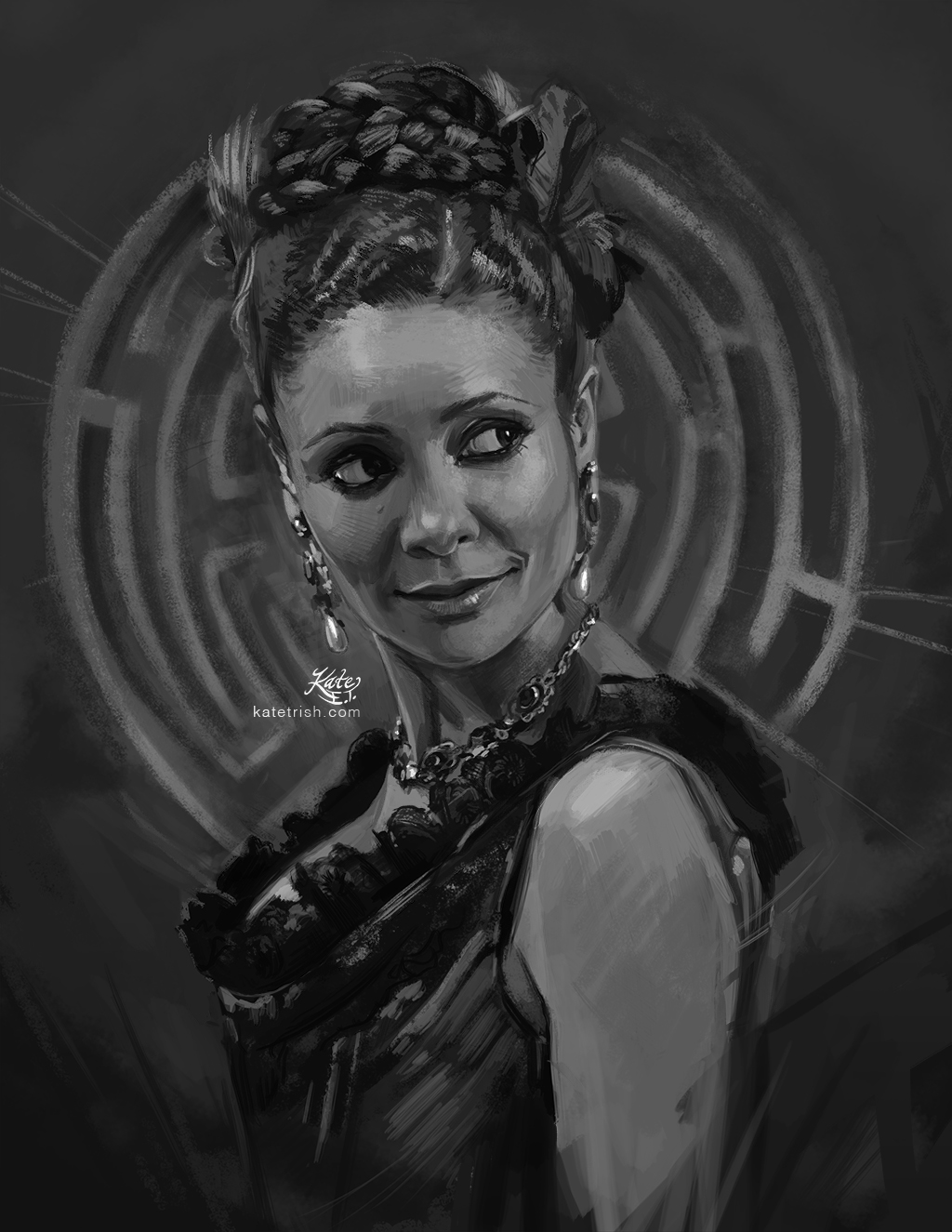 Thandie Newton as Maeve Millay (Westworld) - Commissioned Print