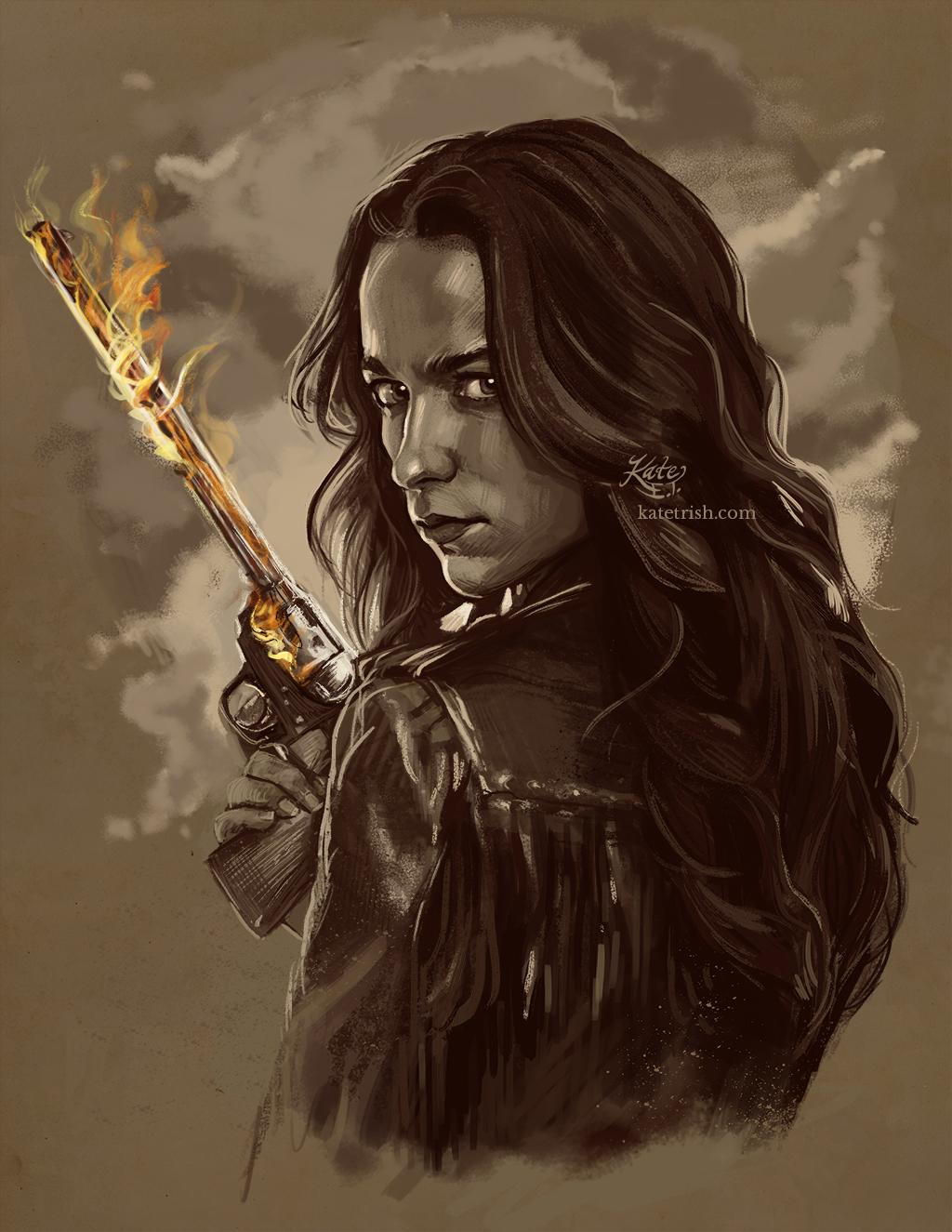 Melanie Scrofano as Wynonna Earp (Wynonna Earp) - Commissioned Print
