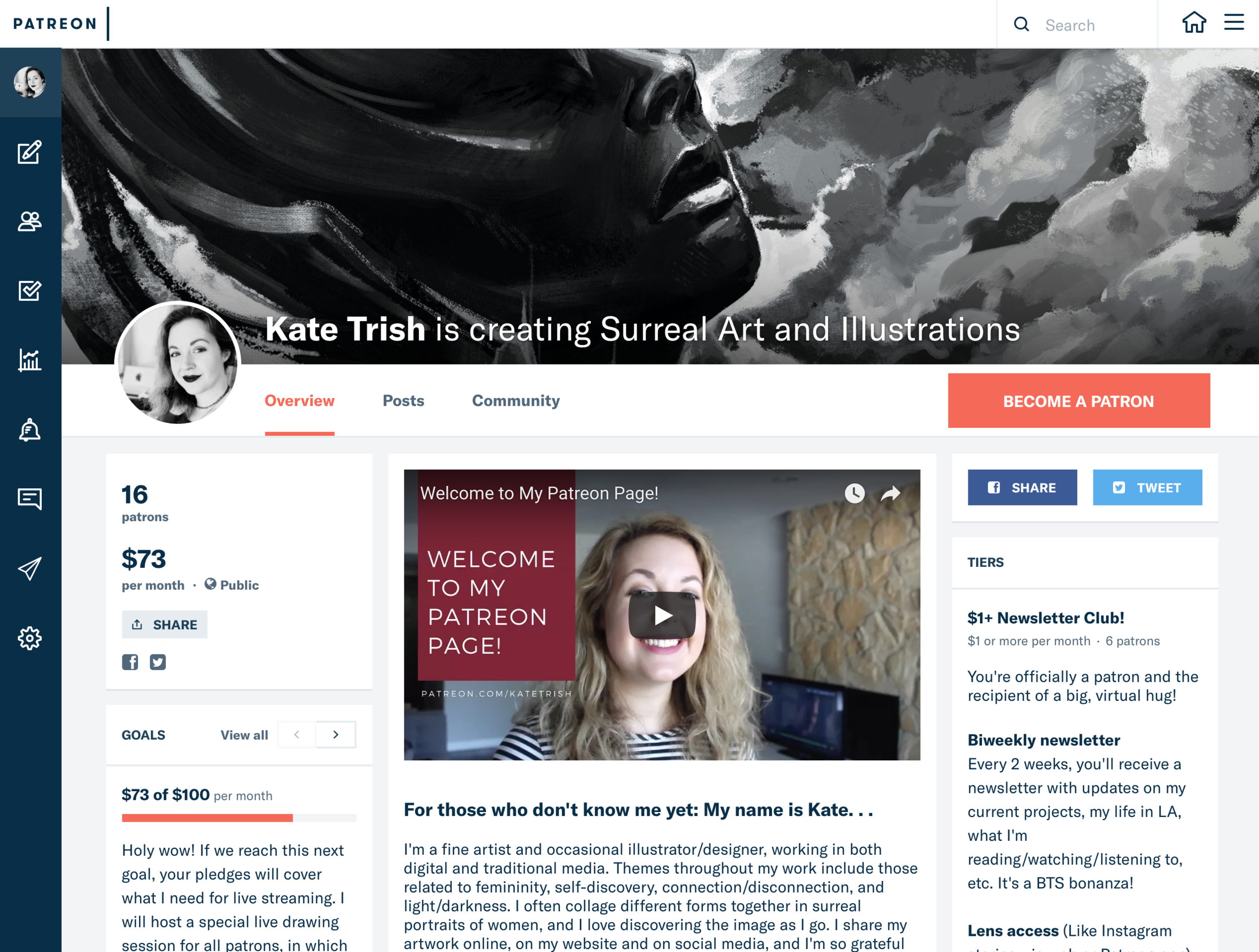 PATREON - You can become a patron to access exclusive behind-the-scenes content, process videos, bi-weekly newsletters, etc.