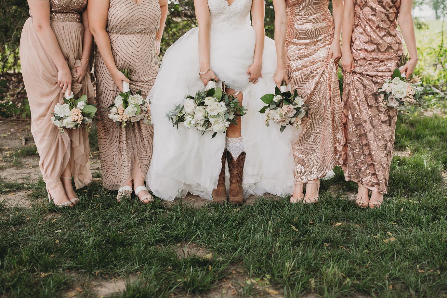 kc wedding florist boho style