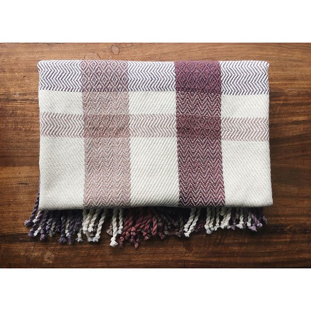 Playing with twill and plaid on this cozy wool blanket!