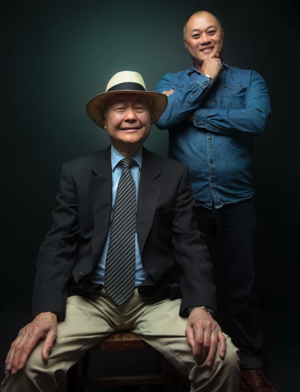 Gilbert Lau and his son, Jason. Photo: Simon Schluter