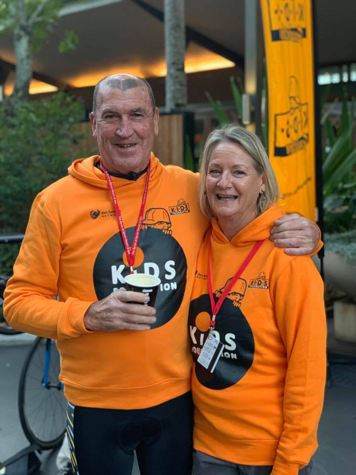 Brad Foster pictured with his wife, Annie,  who helped make delicious meals for all the riders and crew on the ride