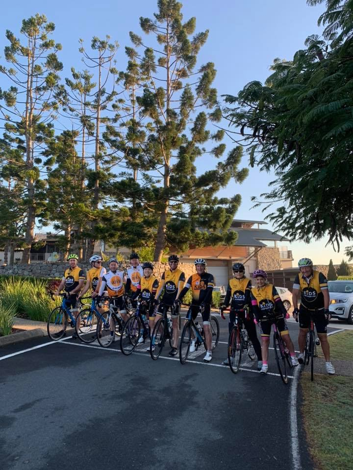All 10 riders waiting to depart for Day 4 of the ride