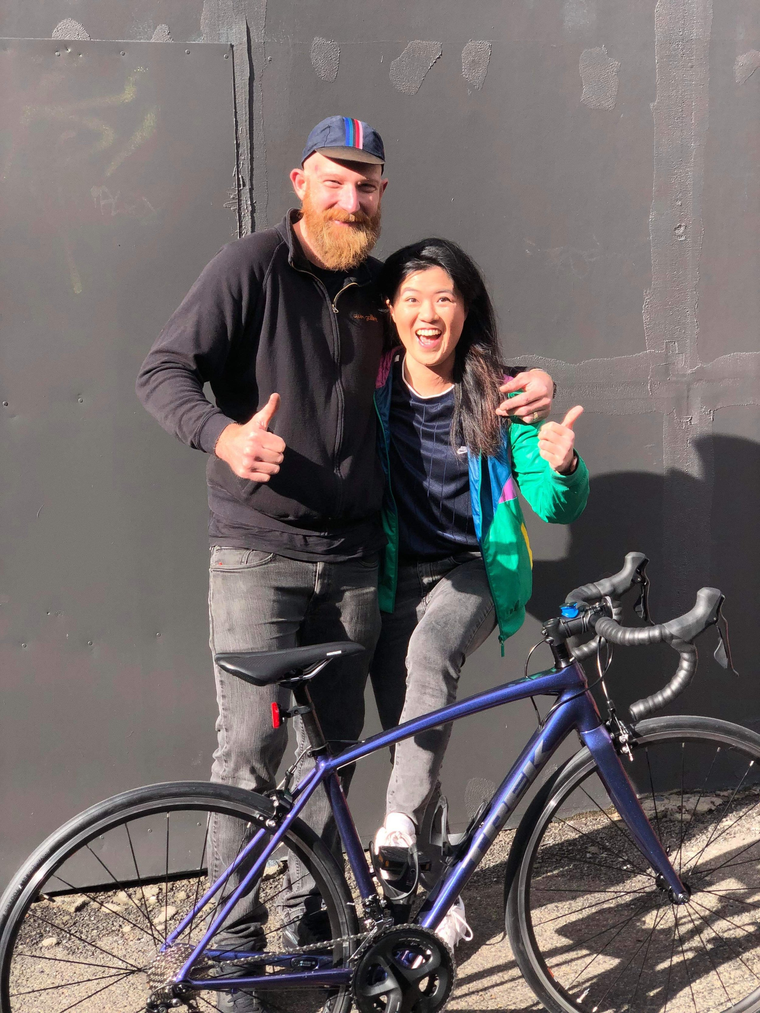 Shaun and Annie on 'New Bike Day' way back on 4 June 2019