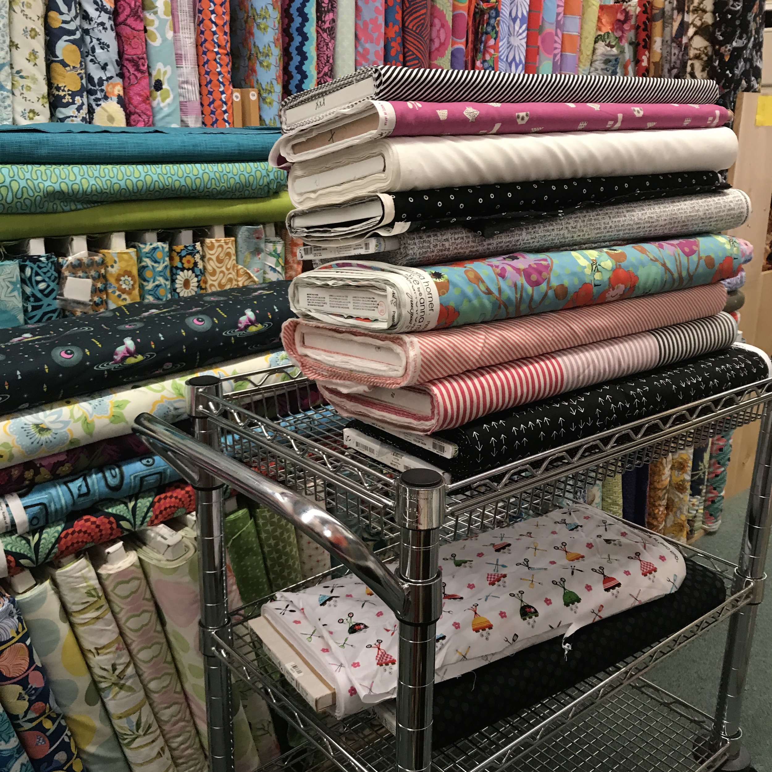 Fabric shopping at The Quilt Place