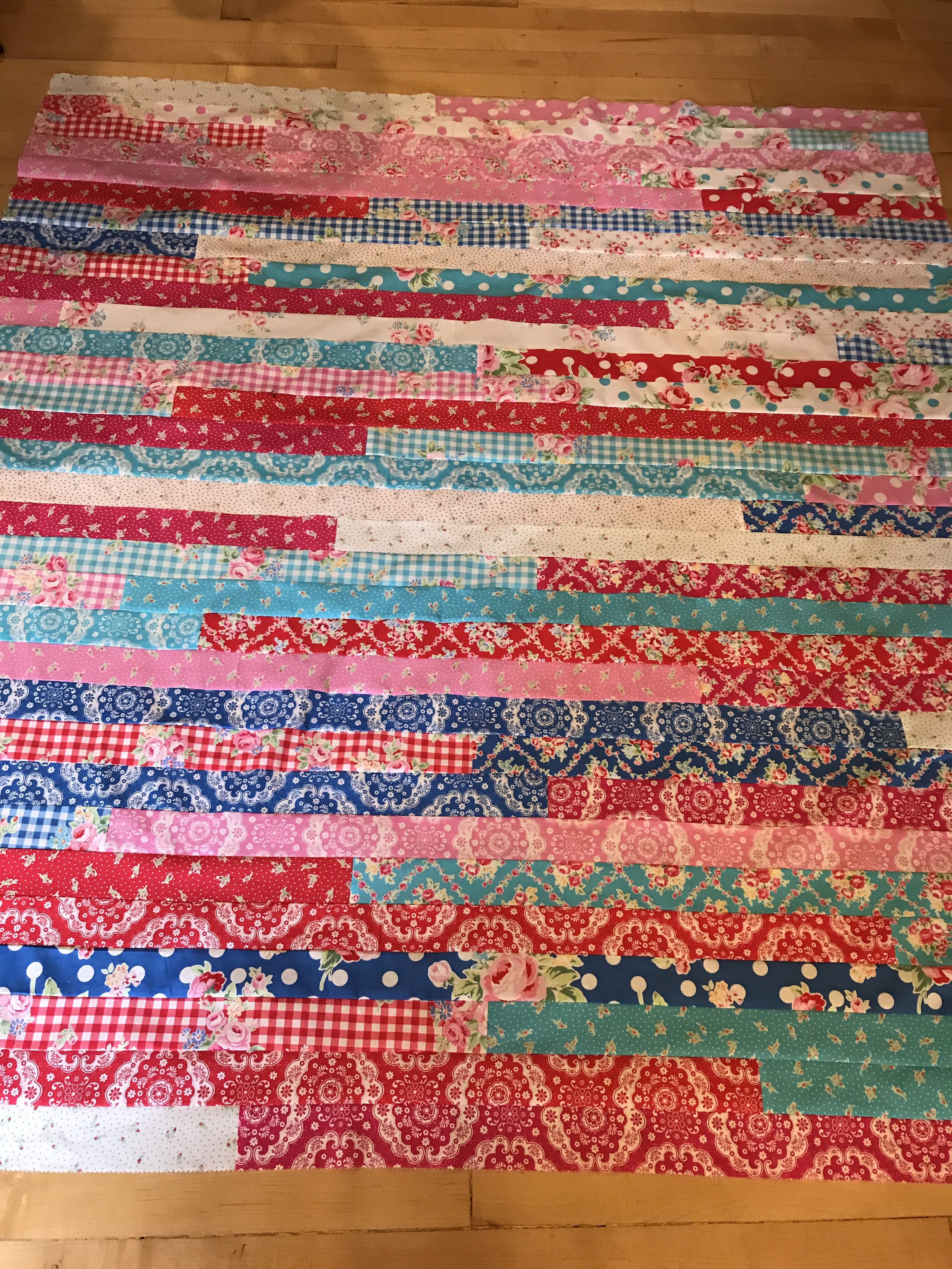 Have you ever made one of those  jelly roll races quilt ?