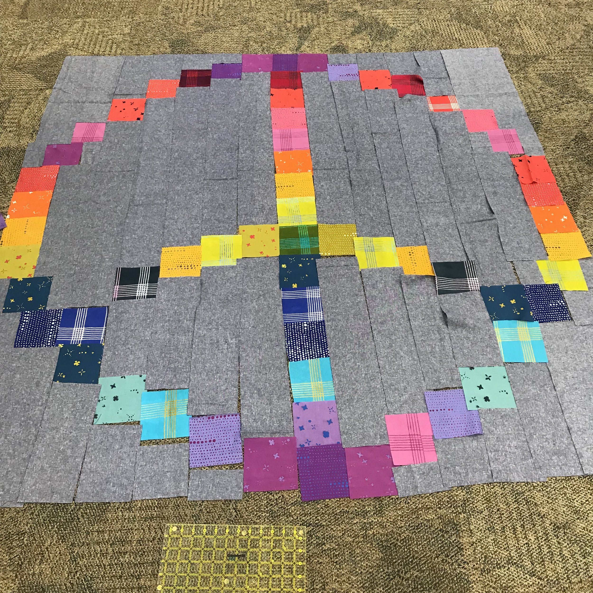 Another  Peace Quilt  underway