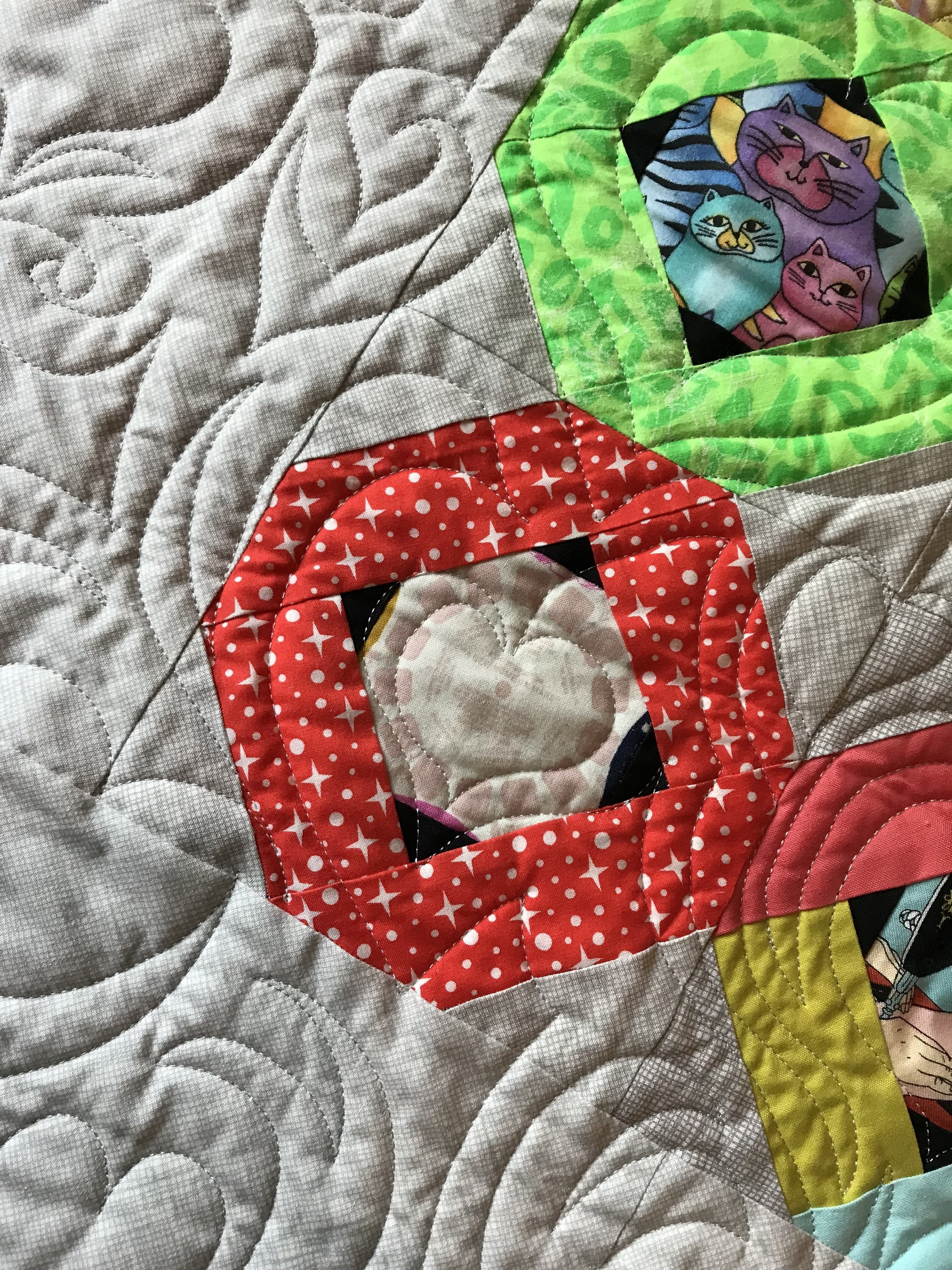 Close up of the wonderful quilting