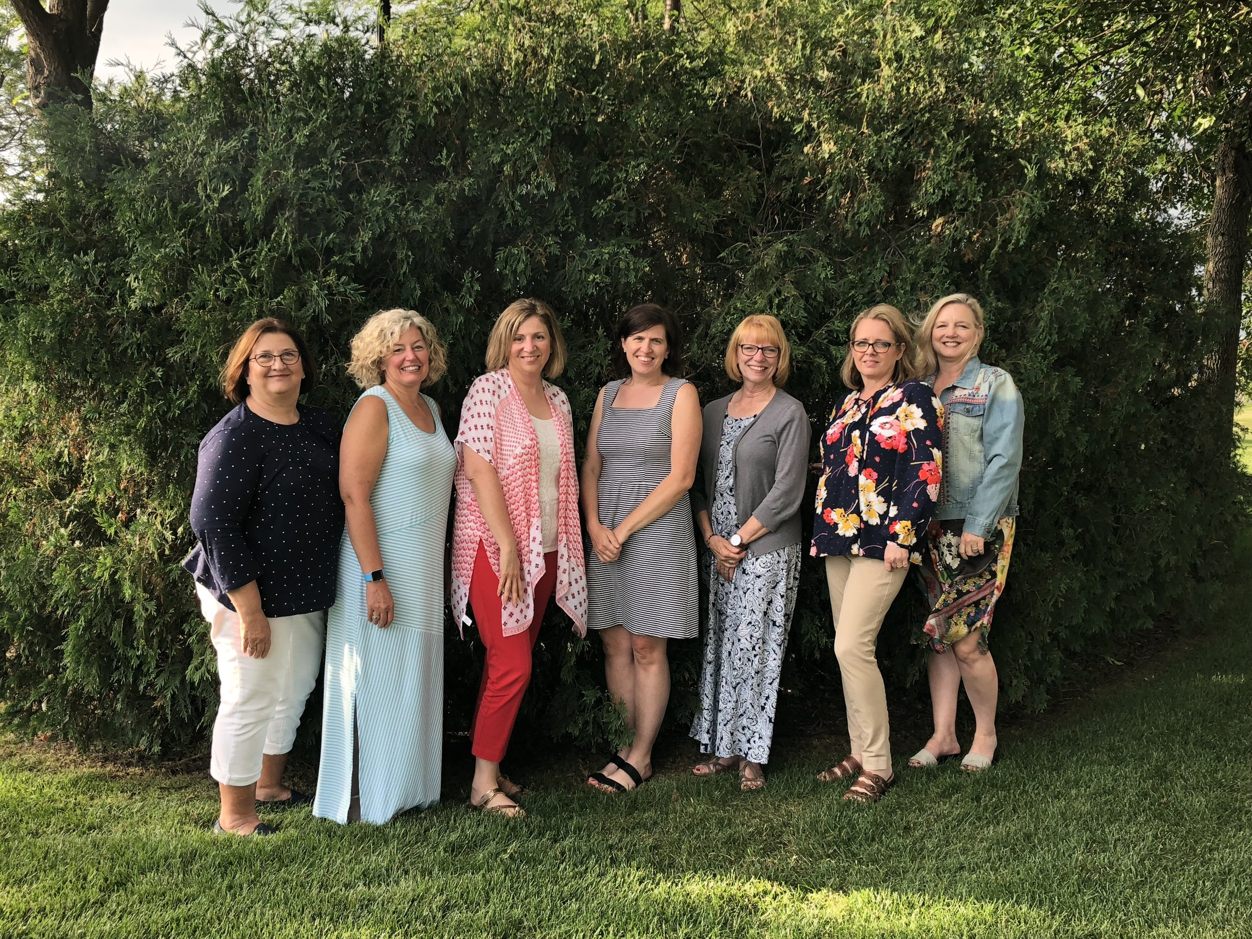 Mary, Stephanie, Doris, Amanda Jean, Cindy, Michelle, and me...missing Shelly and Terri
