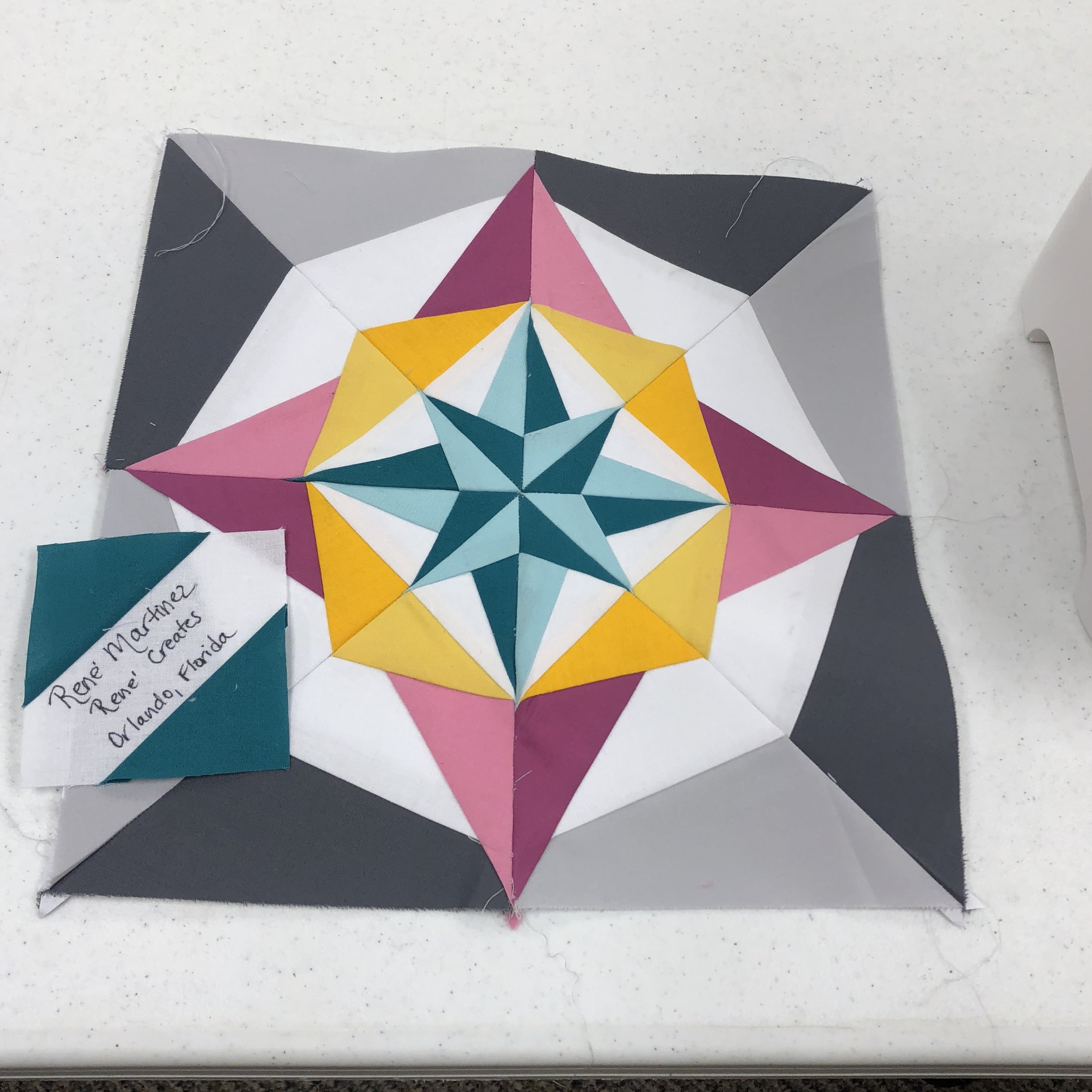 paper pieced block for Michelle