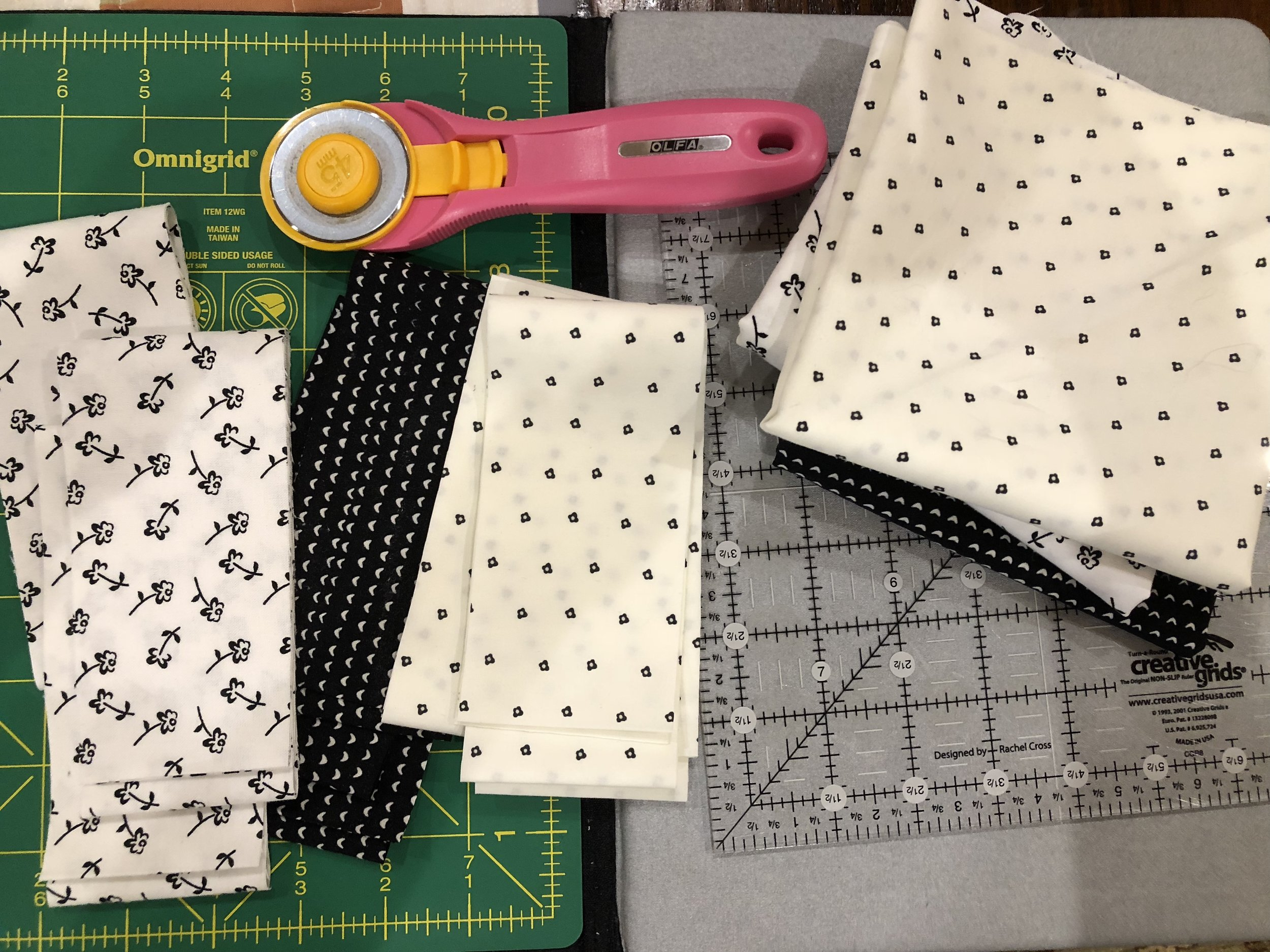 It's nice to add variety with a scrappy quilt