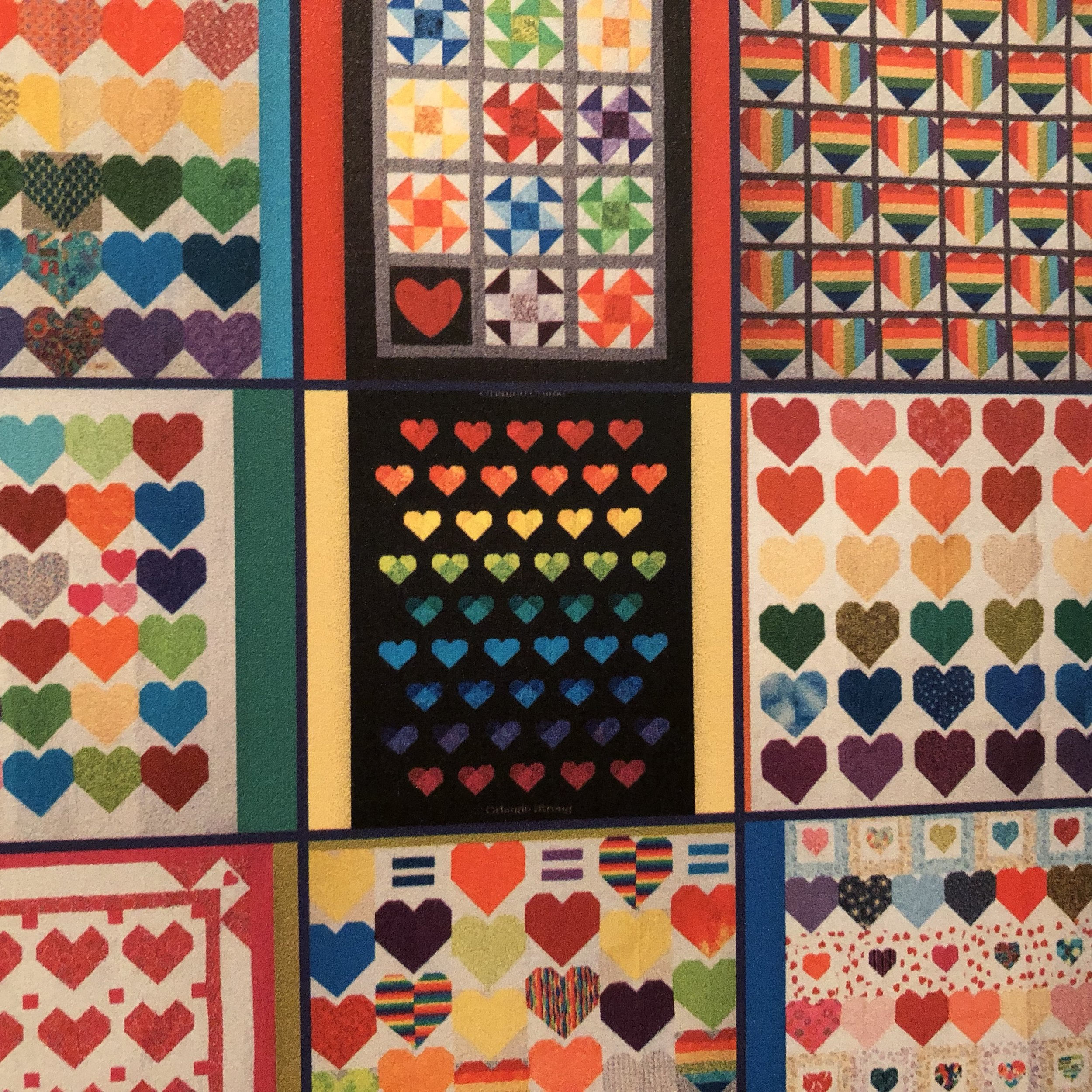 (Then) Police Chief John Mina selected that gorgeous quilt shown in the center with the black background.