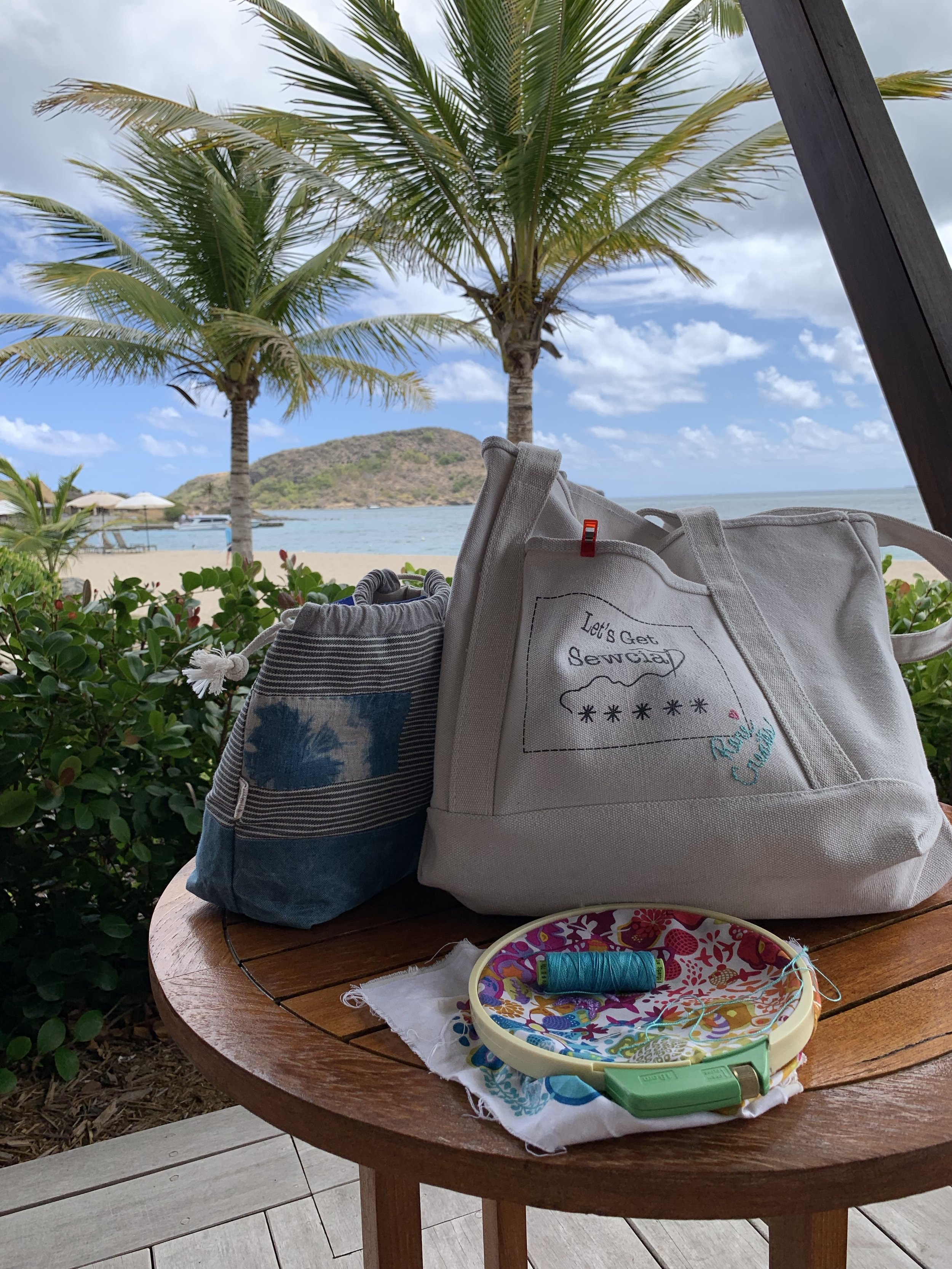 What a spot for embroidering!