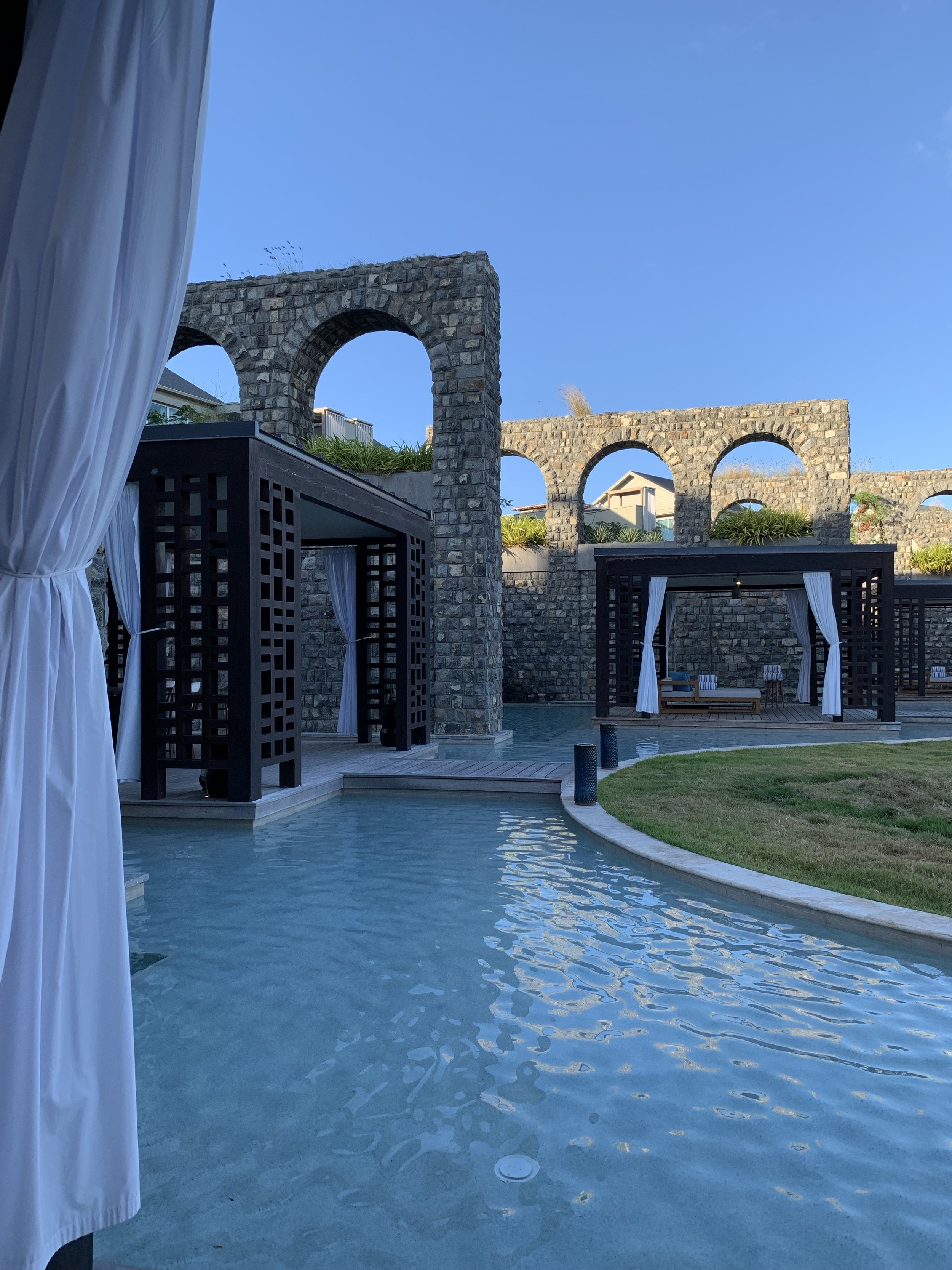 Pools in between the cabanas