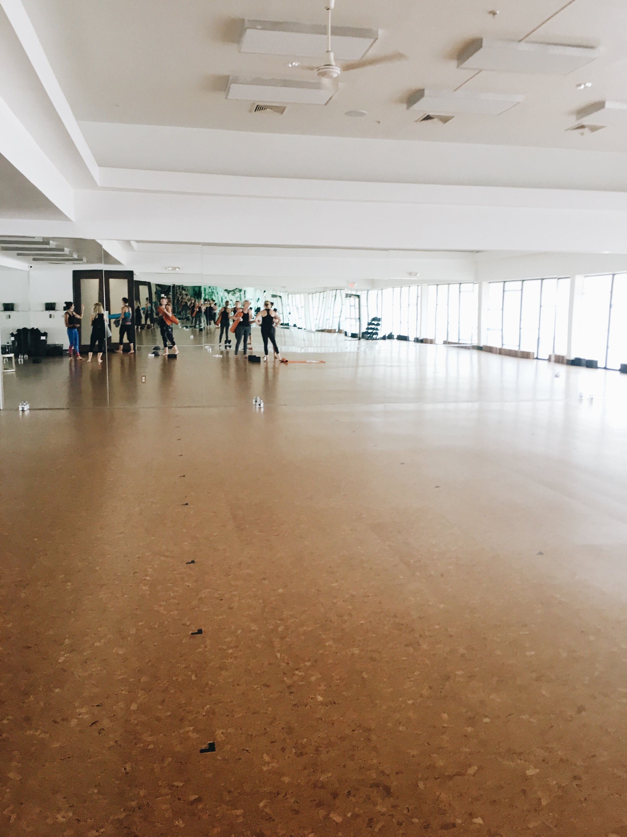 A huge space to do yoga