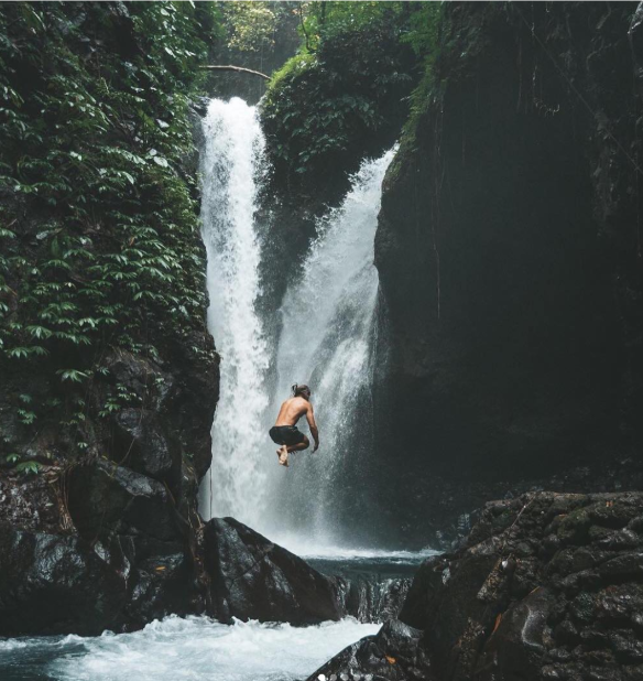 Git Git Waterfall - The waterfall is about thirty-five metres high, surrounded by lush greenery, and if you're really lucky, you might even spot wild monkeys hanging out in the trees and drinking from the falls.