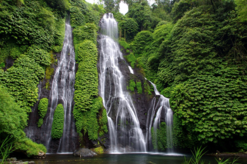 Banyumala Waterfall - The waterfall is special in that there are two flows of water to be seen, with water cascading down steep rocks surrounded by gorgeous greenery. Here, you can take a refreshing dip in the plunge pool at the bottom.