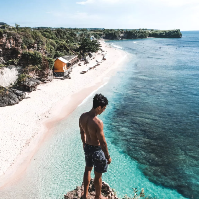 Balangan Beach - Balangan Beach, locally referred to as Pantai Balangan, is one of Bali's most popular and most scenic, featuring a gorgeous half-kilometre stretch of golden sand bordered between vegetated limestone cliffs and a reef with one of the longest left-hander breaks on the island.