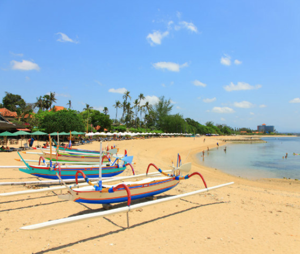 Sanur Beach - Sanur beach, while thin, is protected by a reef and breakwaters, so families appreciate the limpid waves.