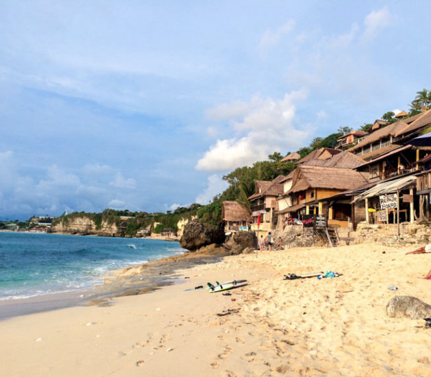 Bingin Beach - Hidden Beach and Surf Spot near Uluwatu. Bingin Beach is one of Bali's most popular surf spots, and it's also one of the island's hidden beaches, obscured by the rugged limestone cliffs on the southwestern