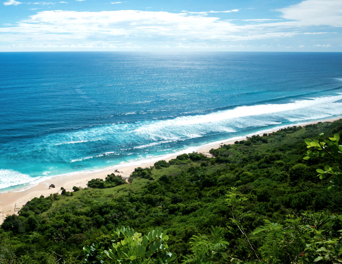Nyang Nyang beach - Nyang Nyang Beach in Bali is a pristine 1.5-kilometre stretch of coastline and also one of Bali's least visited beaches. This is partly due to its far-flung location and the long trek required to reach it