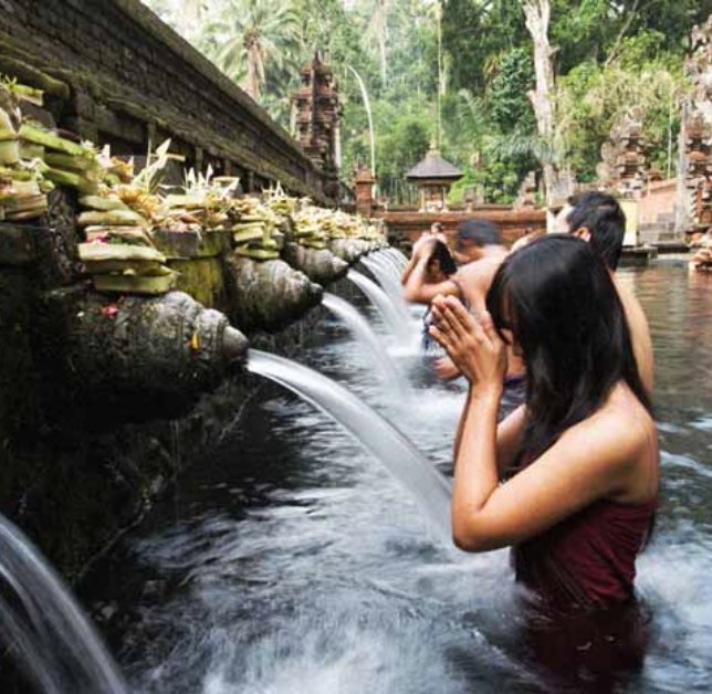 Pura Tirta Empul - Pura Tirta Empul temple is a Hindu Balinese water temple located near the town of Tampaksiring, Bali, Indonesia.