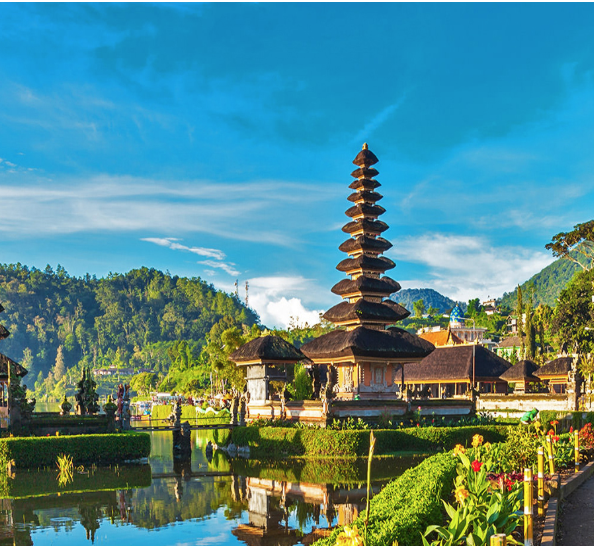 Ulun Danu Beratan Temple - The Ulun Danu Beratan Temple is both a famous picturesque landmark and a significant temple complex located on the western side of the Beratan Lake in Bedugul, central Bali.