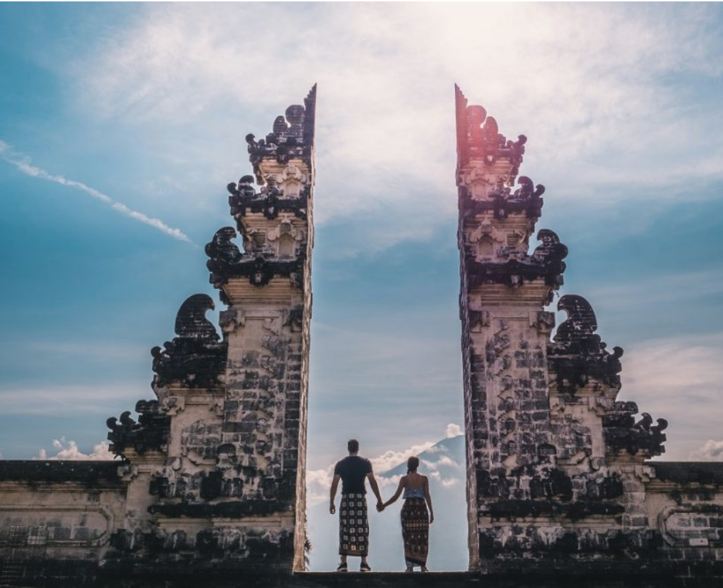Pura Lempuyang - One of Bali's oldest and most highly regarded temples. Definitely a highlight on any travel itinerary for the fit and adventurous, the main temple lies at 1,175m above sea level, up on the peak of the namesake Mount Lempuyang in East Bali.