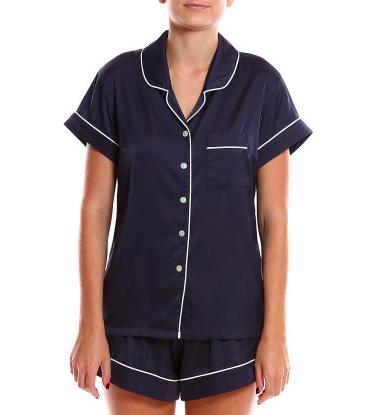 Homebodii Piping Short Sleeve Pyjama Set $89