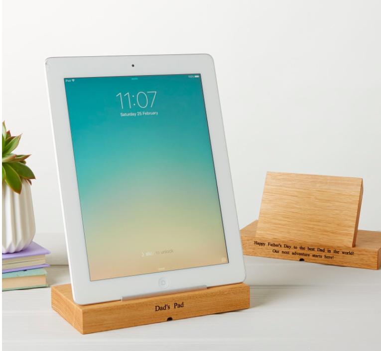 MijMoj Design Personalised Oak Tablet Stand $91