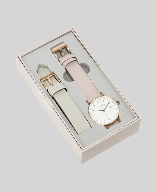 The Horse D-Series Gift Box - Brushed Rose Gold/Blush + Grey $239