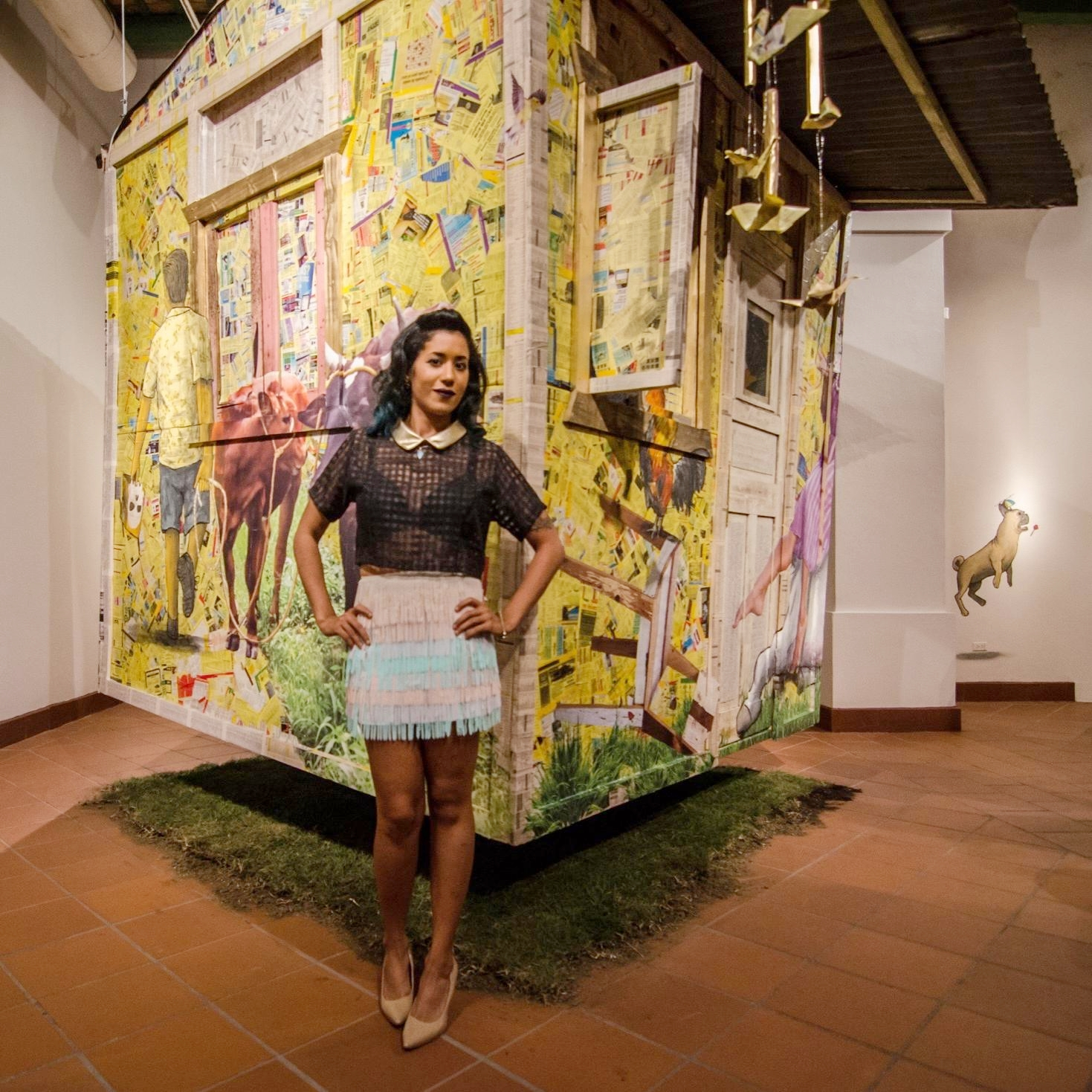 Damaris Cruz - San Juan, PR        Damaris Cruz works the theme of nostalgia, disuse and memory from the sentimentalism of tropical Kitsch, beliefs and traditions of the cotidianity.
