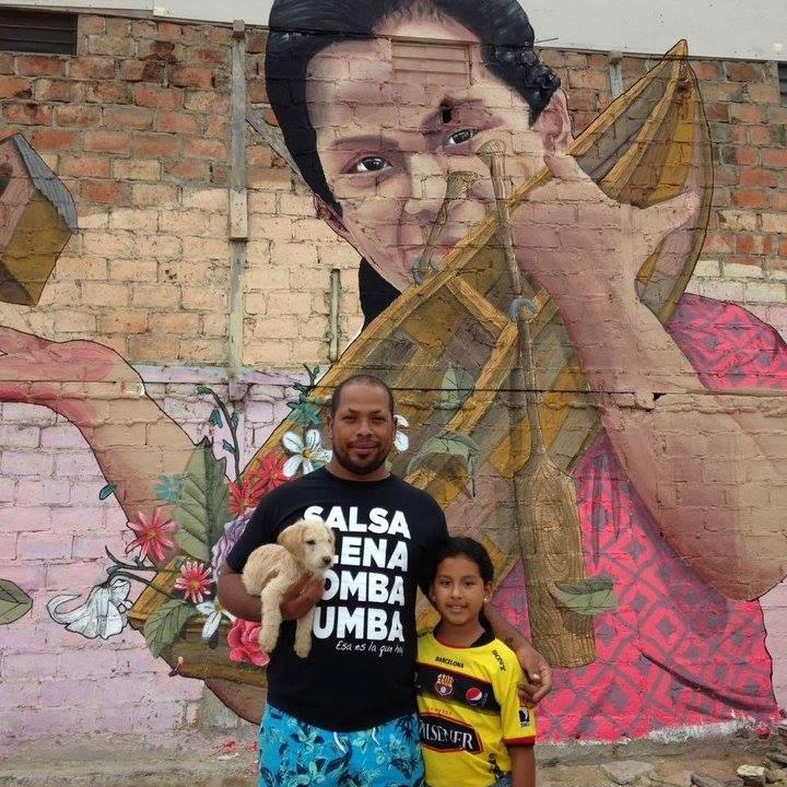 CANOA - 25 artistas internacionales, nacionales y locales colaboran con los sobrevivientes del terremoto del abril de 2016 para realizar una galería callejera como parte de la reconstrucción física, económica y emocional de Canoa.