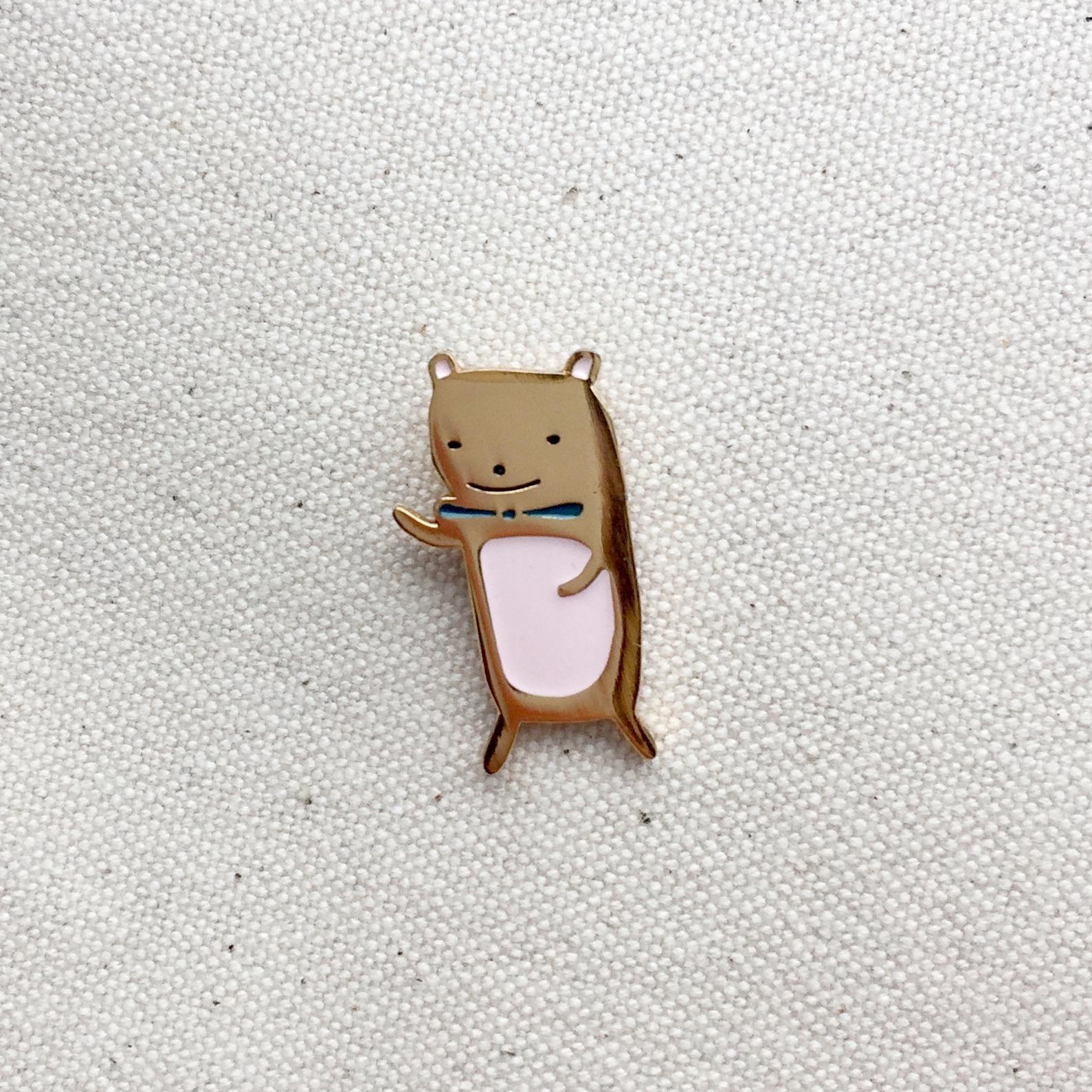 Teddy Bear Enamel Pin by Lindsey Balbierz
