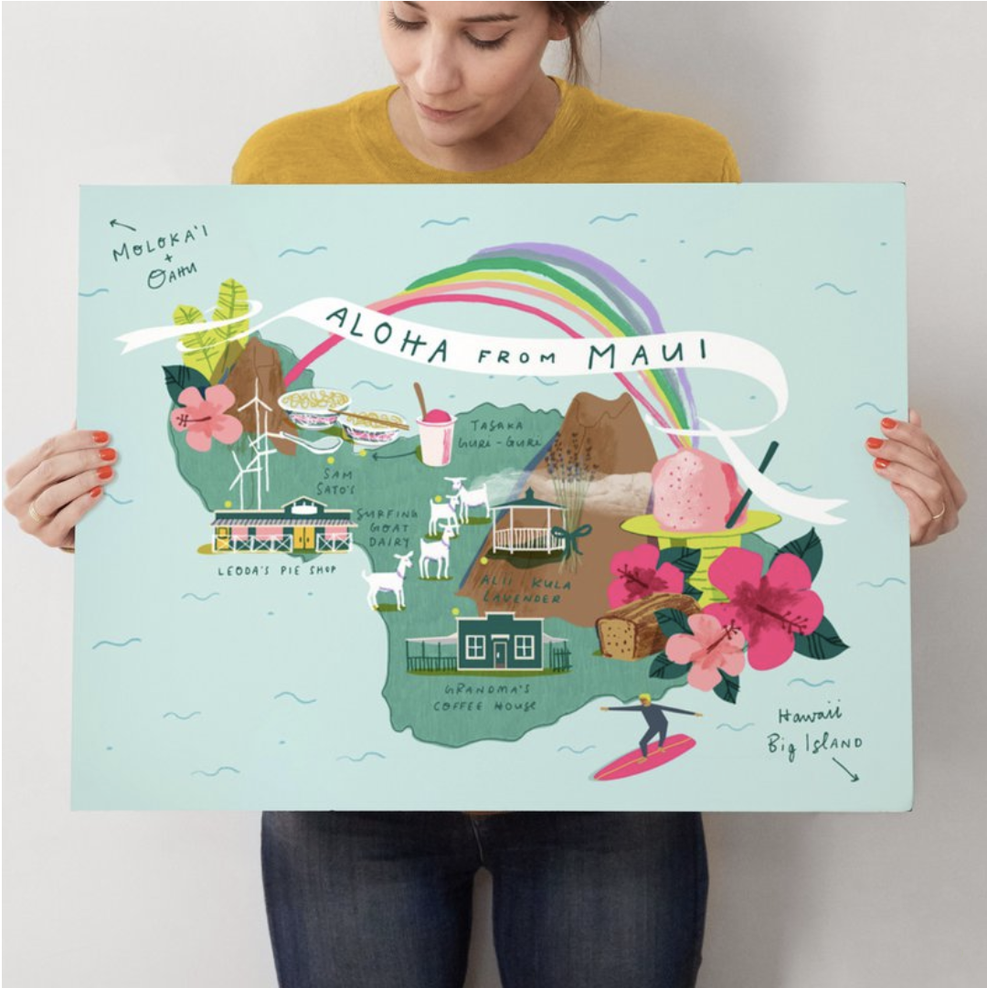 Maui Map by Lindsey Balbierz