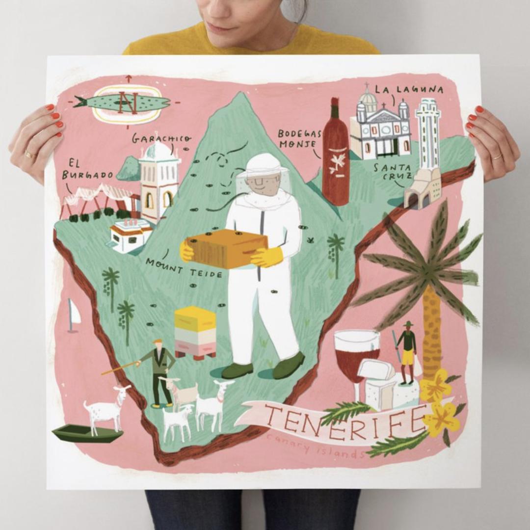 Tenerife Map by Lindsey Balbierz