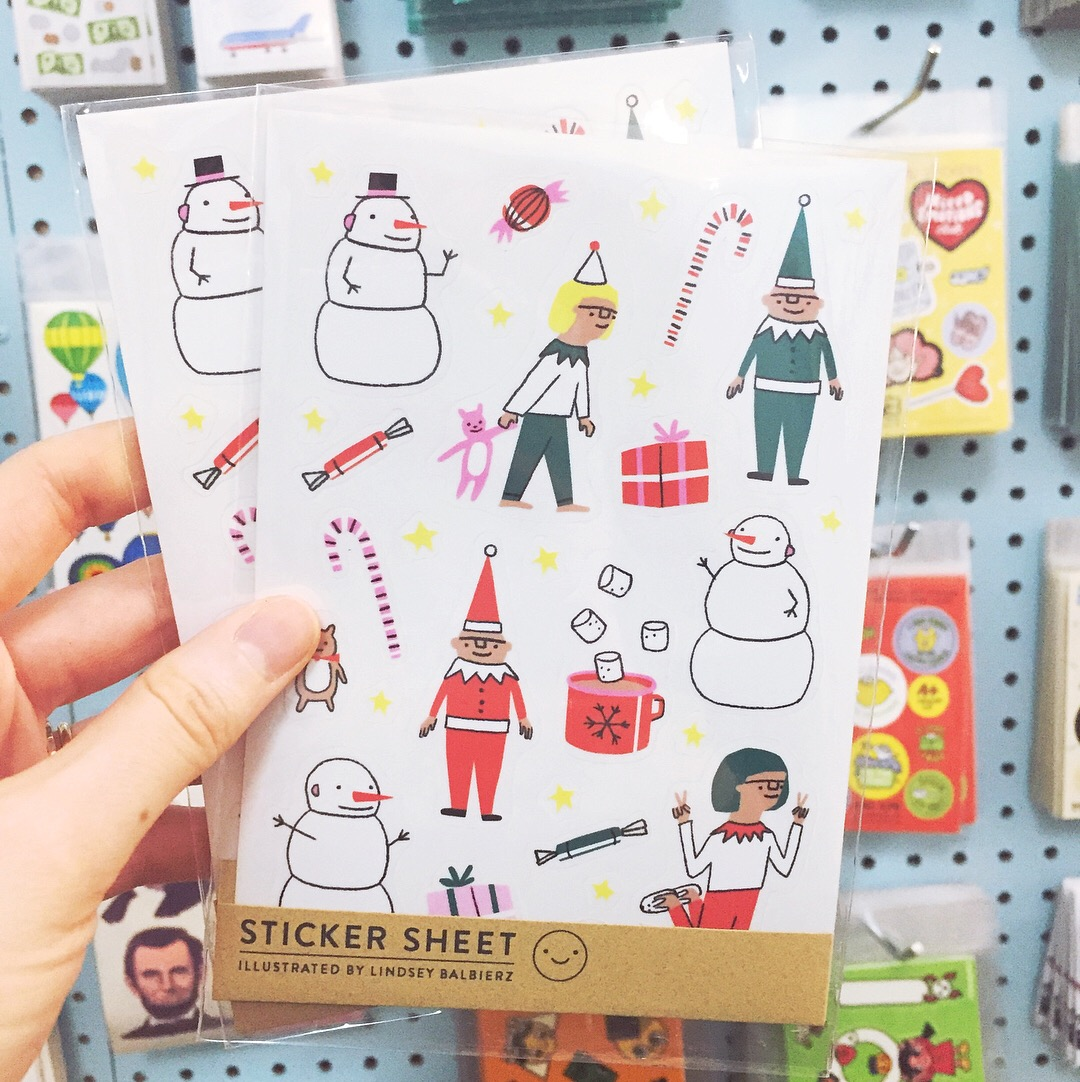 Holiday Stickers by Lindsey Balbierz