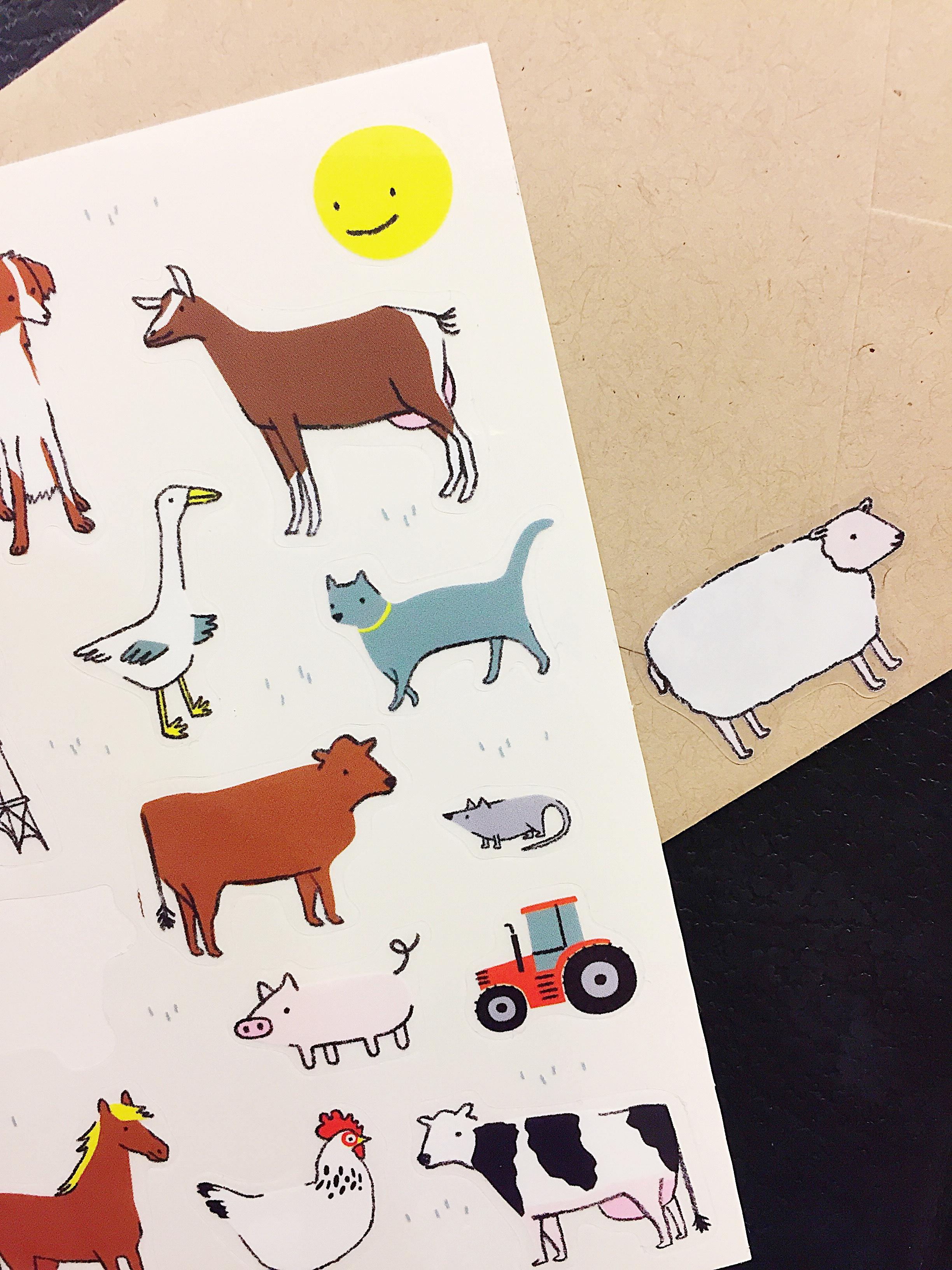 Farm Animal Stickers Lindsey Balbierz