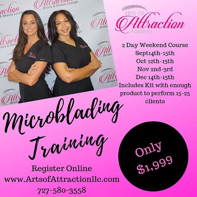 Are You Looking to Advance Your Career In The #Beauty Industry? Learn how to become a Professional #Microblading #Artist, the highest paying job in the beauty industry. Help people achieve perfect, natural-looking eyebrows and make up to $500 per procedure! Don't wait, only a few spots left for our September training!