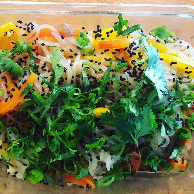 Sesame Yam Noodle Bowl #privtechef #queerchef #catering #bittenpeach #summer #freshfood